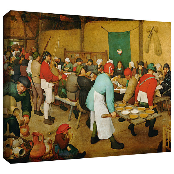 Brushstone Peasant Wedding Gallery Wrapped CanvasWall Art