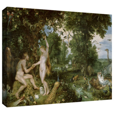 Brushstone The Garden of Eden with The Fall of ManGallery Wrapped Canvas Wall Art