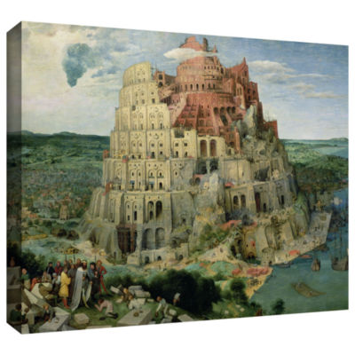Brushstone Tower of Babel Gallery Wrapped Canvas Wall Art
