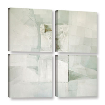 Brushstone White 4-pc. Square Gallery Wrapped Canvas Wall Art