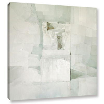 Brushstone White Gallery Wrapped Canvas Wall Art
