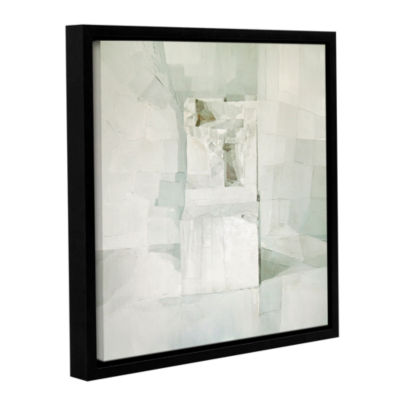 Brushstone White Gallery Wrapped Floater-Framed Canvas Wall Art