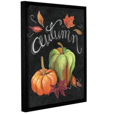 Brushstone Autumn Harvest I Gallery Wrapped Floater-Framed Canvas Wall Art