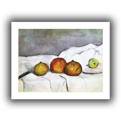 Brushstone Fruit on a Cloth Canvas Wall Art
