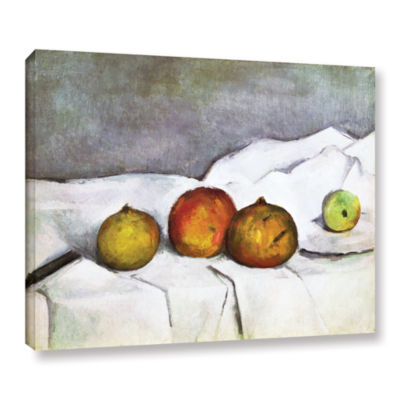 Brushstone Fruit on a Cloth Gallery Wrapped CanvasWall Art