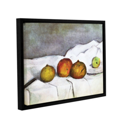 Brushstone Fruit on a Cloth Gallery Wrapped Floater-Framed Canvas Wall Art
