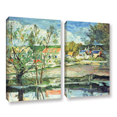 Brushstone In The Oise Valley 2-pc. Gallery Wrapped Canvas Wall Art