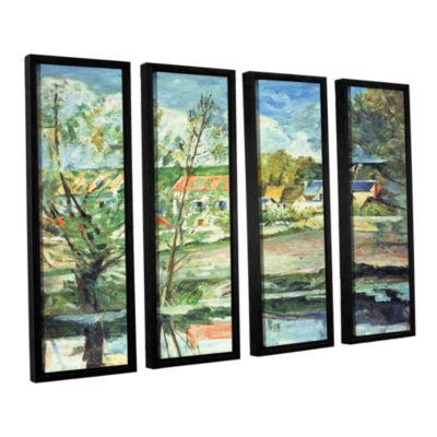 Brushstone In The Oise Valley 4-pc. Floater FramedCanvas Wall Art