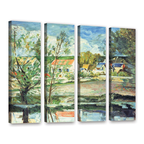 Brushstone In The Oise Valley 4-pc. Gallery Wrapped Canvas Wall Art