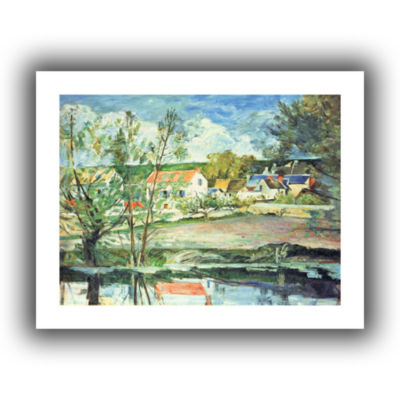 Brushstone In The Oise Valley Canvas Wall Art