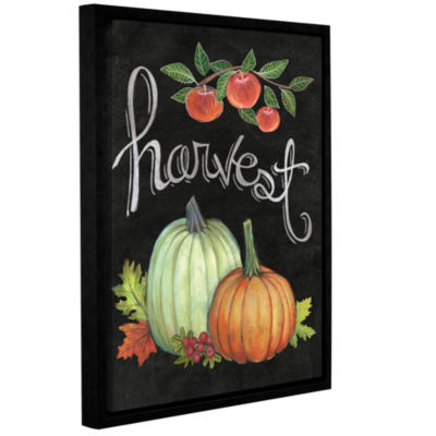 Brushstone Autumn Harvest IV Gallery Wrapped Floater-Framed Canvas Wall Art