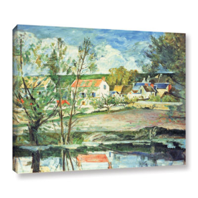 Brushstone In The Oise Valley Gallery Wrapped Canvas Wall Art