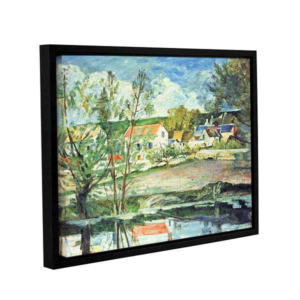 Brushstone In The Oise Valley Gallery Wrapped Floater-Framed Canvas Wall Art