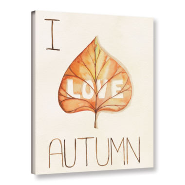 Brushstone Autumn Love I Gallery Wrapped Canvas Wall Art