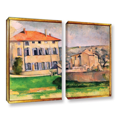 Brushstone Jas de Bouffan 2-pc. Gallery Wrapped Canvas Wall Art