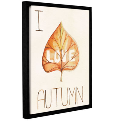 Brushstone Autumn Love I Gallery Wrapped Floater-Framed Canvas Wall Art