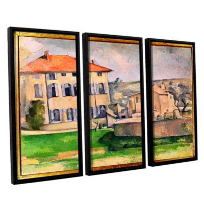 Brushstone Jas de Bouffan 3-pc. Floater Framed Canvas Wall Art