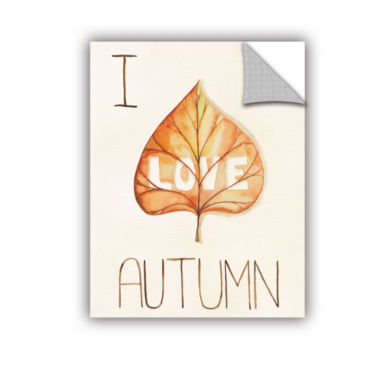 Brushstone Autumn Love I Removable Wall Decal