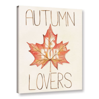 Brushstone Autumn Love II v2 Gallery Wrapped Canvas Wall Art