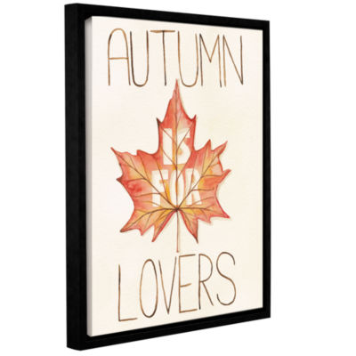 Brushstone Autumn Love II v2 Gallery Wrapped Floater-Framed Canvas Wall Art