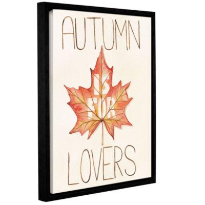 Brushstone Autumn Love II v2 Gallery Wrapped Floater-Framed Canvas Wall Art