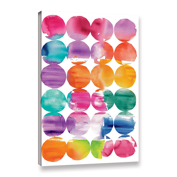 Brushstone Spring Dots Gallery Wrapped Canvas WallArt