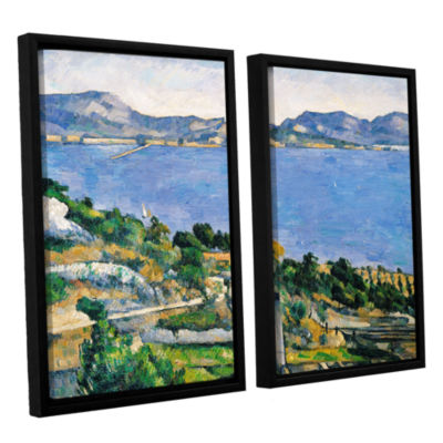 Brushstone L'Estaque of The Bay of Marseilles 2-pc. Floater Framed Canvas Wall Art