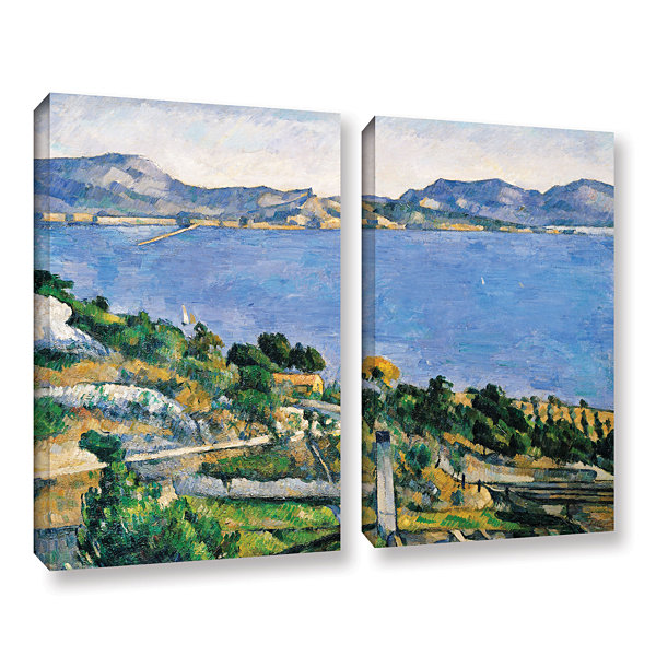 Brushstone L'Estaque of The Bay of Marseilles 2-pc. Gallery Wrapped Canvas Wall Art