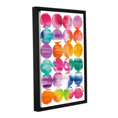 Brushstone Spring Dots Gallery Wrapped Floater-Framed Canvas Wall Art