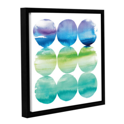 Brushstone Summer Dots II Gallery Wrapped Floater-Framed Canvas Wall Art
