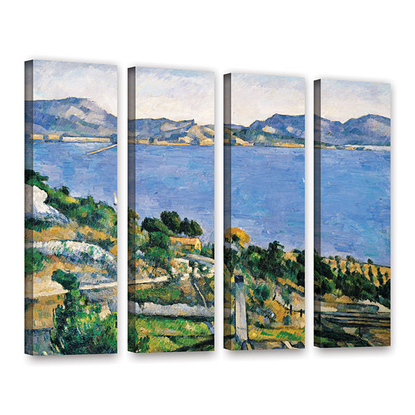 Brushstone L'Estaque of The Bay of Marseilles 4-pc. Gallery Wrapped Canvas Wall Art