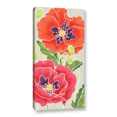 Brushstone Sunshine Poppies I Gallery Wrapped Canvas Wall Art