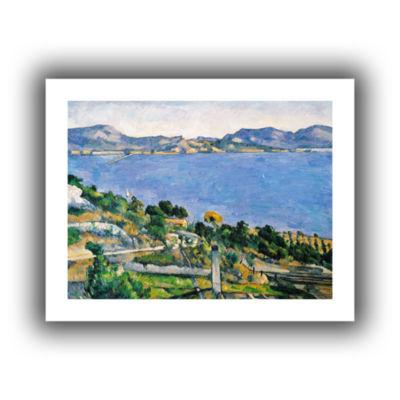 Brushstone L'Estaque of The Bay of Marseilles Canvas Wall Art