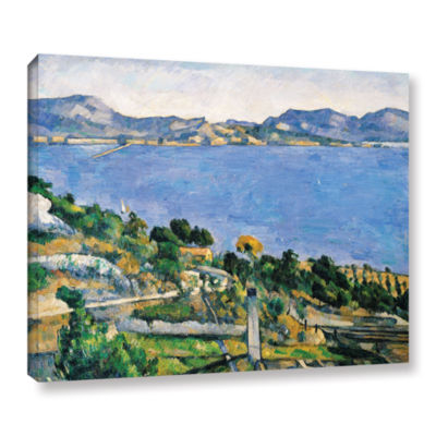 Brushstone L'Estaque of The Bay of Marseilles Gallery Wrapped Canvas Wall Art