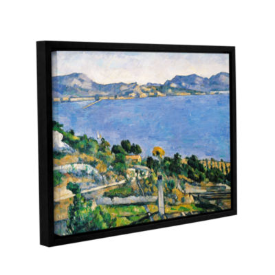 Brushstone L'Estaque of The Bay of Marseilles Gallery Wrapped Floater-Framed Canvas Wall Art
