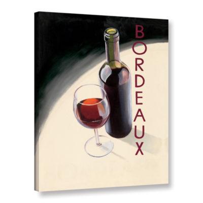 Brushstone Bordeaux 1 Gallery Wrapped Canvas WallArt