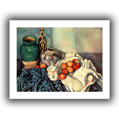 Brushstone Life With Apples II Canvas Wall Art