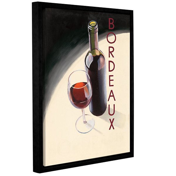 Brushstone Bordeaux 1 Gallery Wrapped Floater-Framed Canvas Wall Art
