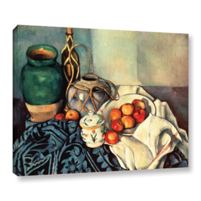 Brushstone Life With Apples II Gallery Wrapped Canvas Wall Art