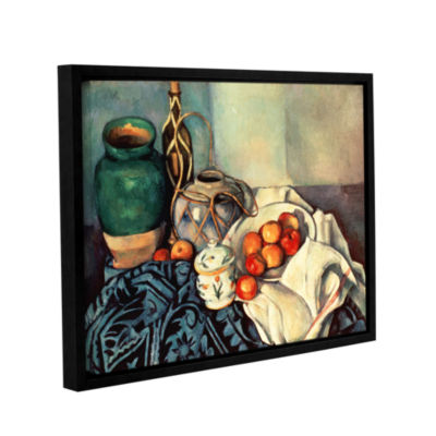 Brushstone Life With Apples II Gallery Wrapped Floater-Framed Canvas Wall Art