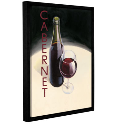 Brushstone Cabernet 1 Gallery Wrapped Floater-Framed Canvas Wall Art