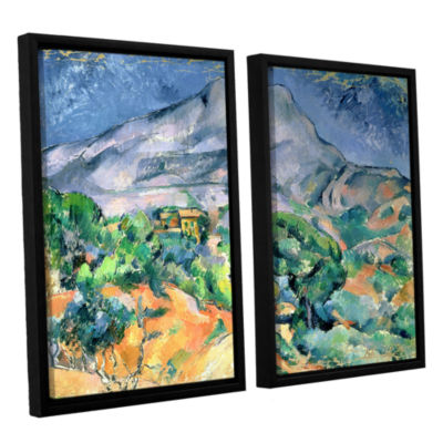 Brushstone Mont Sainte-Victoire 2-pc. Floater Framed Canvas Wall Art