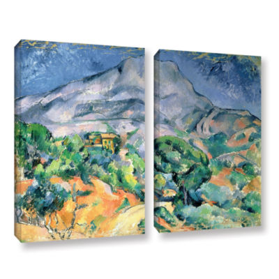 Brushstone Mont Sainte-Victoire 2-pc. Gallery Wrapped Canvas Wall Art