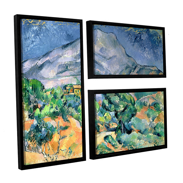Brushstone Mont Sainte-Victoire 3-pc. Flag FloaterFramed Canvas Wall Art