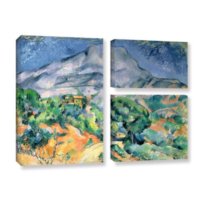 Brushstone Mont Sainte-Victoire 3-pc. Flag GalleryWrapped Canvas Wall Art