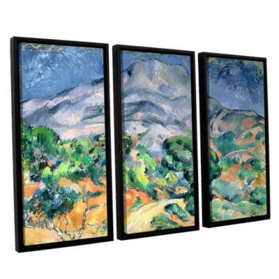 Brushstone Mont Sainte-Victoire 3-pc. Floater Framed Canvas Wall Art