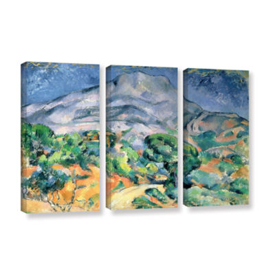 Brushstone Mont Sainte-Victoire 3-pc. Gallery Wrapped Canvas Wall Art