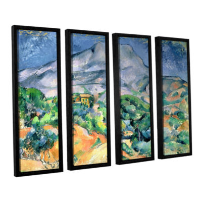 Brushstone Mont Sainte-Victoire 4-pc. Floater Framed Canvas Wall Art