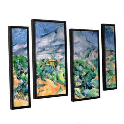 Brushstone Mont Sainte-Victoire 4-pc. Floater Framed Staggered Canvas Wall Art