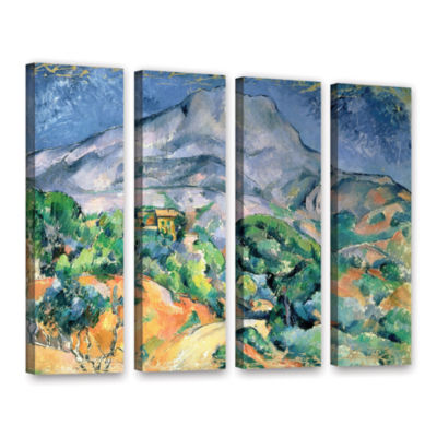 Brushstone Mont Sainte-Victoire 4-pc. Gallery Wrapped Canvas Wall Art